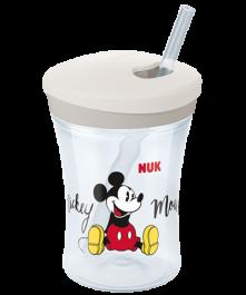 NUK Disney Mickey Action Cup 230ml con cannuccia