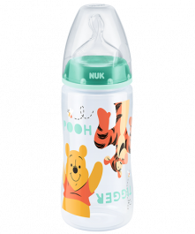 Biberon NUK First Choice Plus Disney Winnie the Pooh 300ml con Tettarella in Silicone