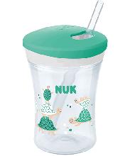 NUK Action Cup 230 ml con cannuccia