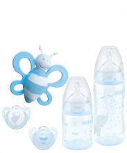 NUK Fist Choice+ Starter Set Baby Rose & Blue, Set di Biberon e Succhietti
