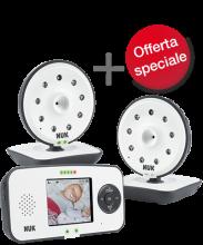 Set con NUK Eco Control Video Display 550VD + videocamera extra