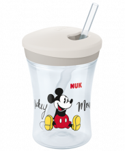 NUK Disney Mickey Action Cup 230ml con cannuccia