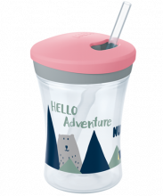 NUK Hello Adventure Action Cup 230ml con cannuccia