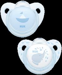 Succhietto NUK Trendline Baby Rose & Blue in silicone